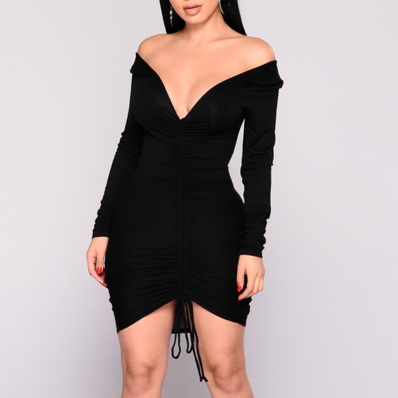 Fashion Nova Dresses   Skirts - Ruched Off the Shoulder Dress 7f42c1465